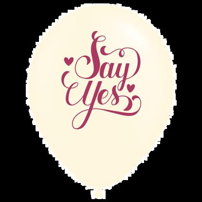 Bild von Motivballon  Say Yes