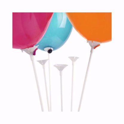 Bild von Ballonstäbe mit Korbhalterung